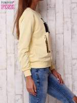 Żółta bluza z napisem I LIKE MY MUSIC LOUD                                                                          zdj.                                                                         3