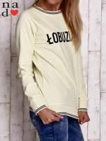 Żółta bluza z napisem ŁOBUZIARA                                  zdj.                                  3