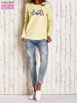 Żółta bluza z napisem NO LIMITS                                  zdj.                                  4