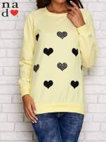 Żółta bluza z serduszkami