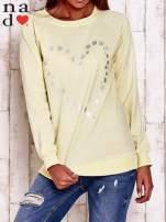 Żółta bluza z wzorem serca                                  zdj.                                  1