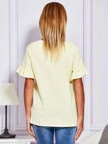 Żółta bluzka z falbanami na rękawach                                  zdj.                                  2