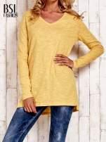 Żółta bluzka z rozporkami z boku                                  zdj.                                  1