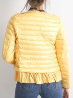 Żółta kurtka przejściowa z falbaną                                  zdj.                                  2