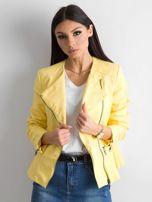 Żółta kurtka ze skóry ekologicznej                                  zdj.                                  1