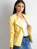 Żółta kurtka ze skóry ekologicznej                                  zdj.                                  3