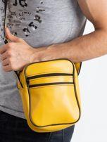 Żółta męska torba listonoszka                                  zdj.                                  4