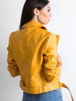 Żółta ramoneska z ekoskóry                                  zdj.                                  2