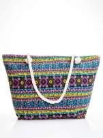 Żółta torba plażowa w azteckie wzory                                                                          zdj.                                                                         1