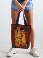 Żółta torba z motywem malarskim                                   zdj.                                  3