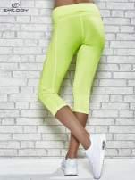 Żółte legginsy 3/4 sportowe termalne z lampasami                                                                          zdj.                                                                         3