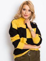 Żółto-czarny sweter Francesca                                  zdj.                                  1