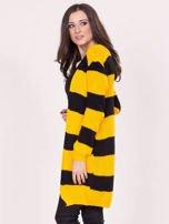 Żółto-czarny sweter w pasy                                  zdj.                                  3