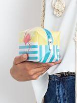 Żółto-niebieska torba z flamingiem                                  zdj.                                  5