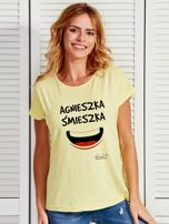 Żółty t-shirt damski AGNIESZKA ŚMIESZKA by Markus P                                  zdj.                                  1