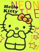 Żółty t-shirt dla dziewczynki HELLO KITTY z gwiadkami                                  zdj.                                  4